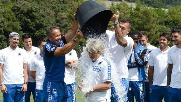 L'Ice Bucket Challenge del presidente Ferrero