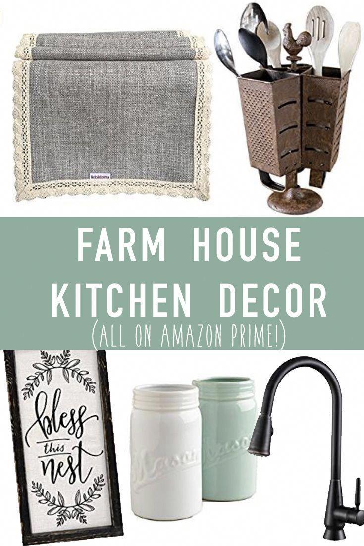 This Farmhouse Decor Is All So Cute I Want It All Farmhouse Kitchen Decor On Amazon Prime Th Farmhouse Kitchen Decor Retro Home Decor Amazon Kitchen Decor