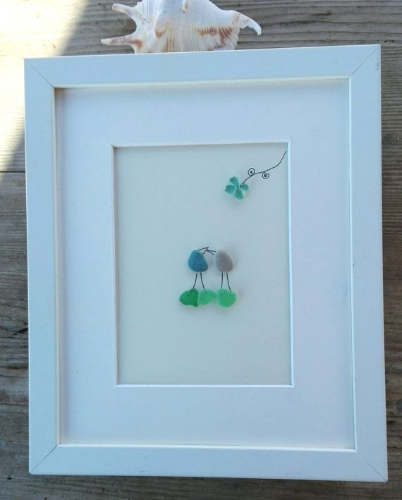 Pebble art birds  Size: 10x8 inch /25x20cm