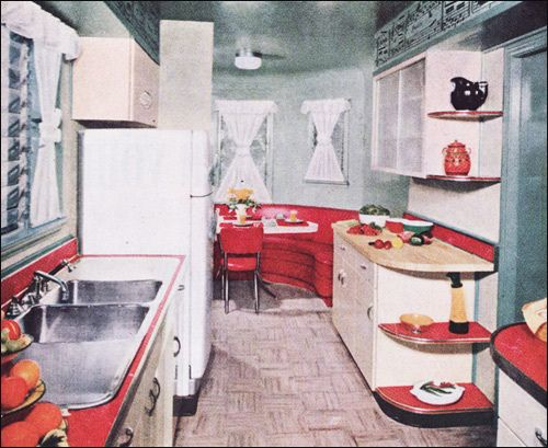 1950s Kitchen Design 100 best 1950's kitchens images on pinterest | retro kitchens