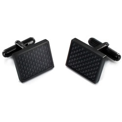 @Overstock.com - These stylish black carbon fiber cufflinks are the perfect finish to any shirt. The contemporary stainless steel and black-plated design will ensure you look fashionable, while the bullet back clasps ensure secure fastening through your cuffs.http://www.overstock.com/Jewelry-Watches/Black-plated-Stainless-Steel-Black-Carbon-Fiber-Cuff-Links/6146785/product.html?CID=214117 $16.99