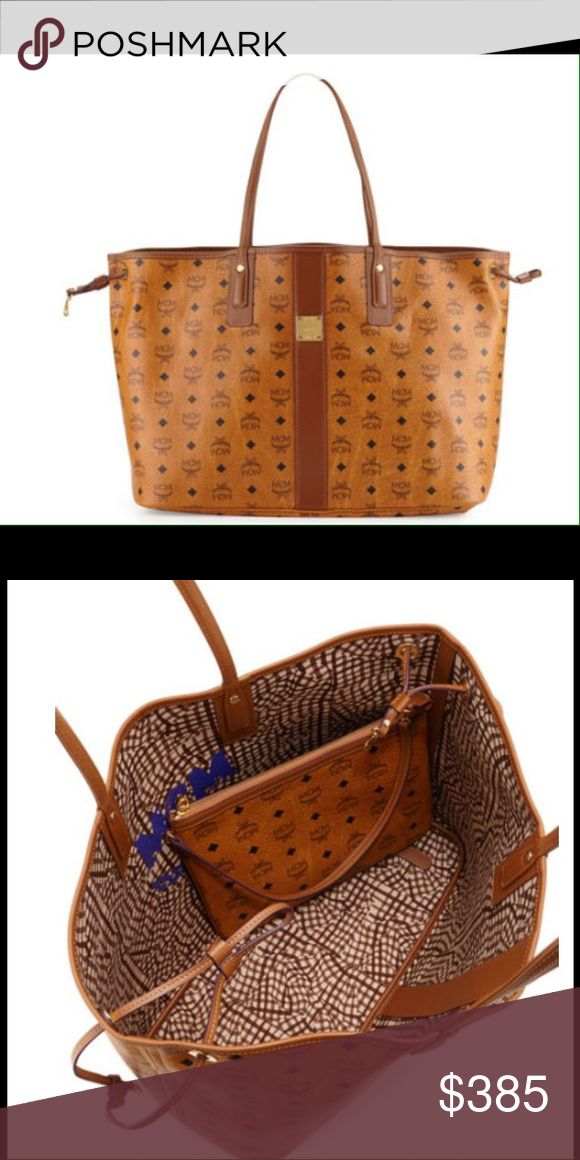 MCM HANDBAG MCM reversible bag (authentic). There is minor wear. This bag normally is sold for $670. I'm letting it go for $385 because I am keeping the pouch that comes with it. NO TRADES AND PRICE IS FIRM. No dust bag included. MCM Bags Totes