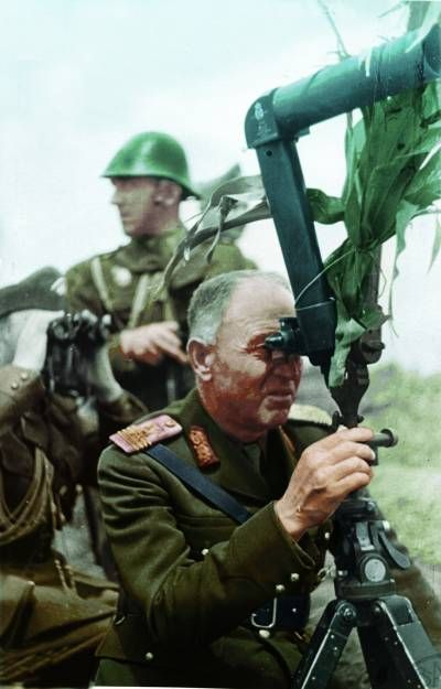 Marshal Ion Antonescu commanding the Romanian Army during Operation Barbarossa.