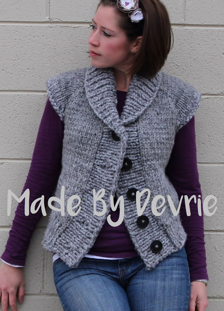 Knitting Pattern Vest Bulky Yarn : 1000+ images about Cardigan Knitting Patterns on Pinterest ...
