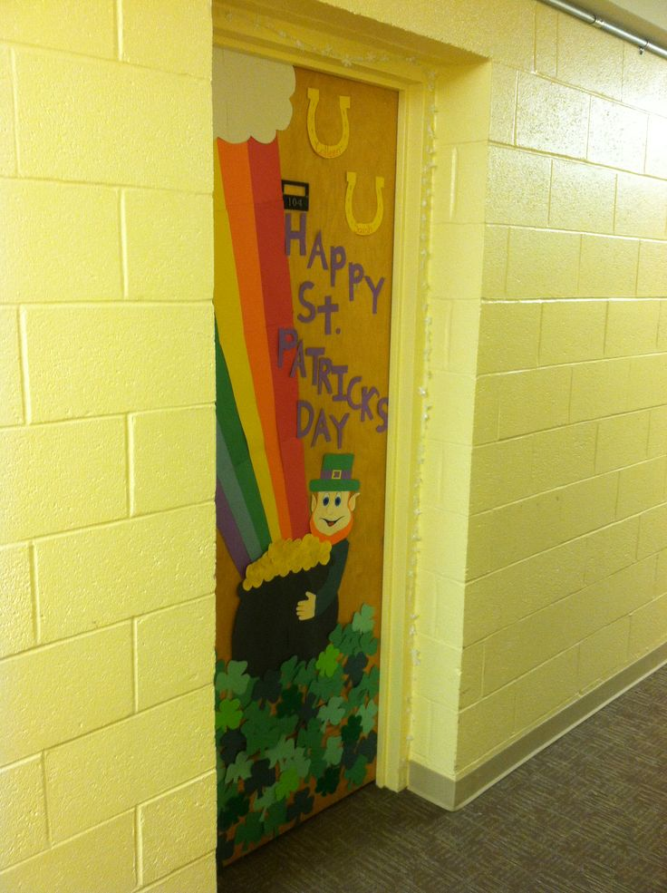 Classroom Decoration Ideas On Dailymotion : Images about st patricks day door ideas on