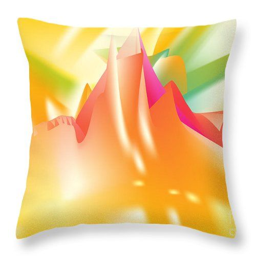 Top Throw Pillow featuring the digital art Vertigo by Ron Labryzz