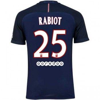 Paris Saint Germain PSG 16-17 Adrien Rabiot 25 Hemmatröja Kortärmad  #Fotbollströjor