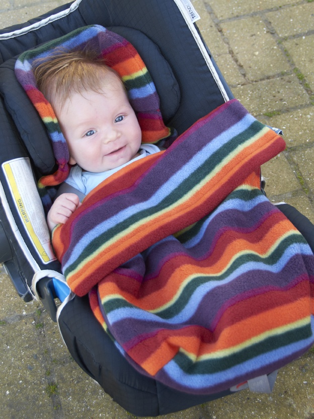 Warm Stripe Fleece Dinkysnuggle