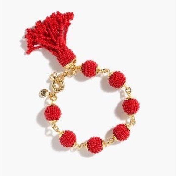 J. Crew Jewelry - J. Crew Beaded Tassel Orb Bracelet