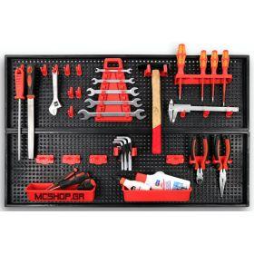 Εργαλεία χειρός - Σκάλες :: Εργαλειοθήκες - Αποθήκευση :: Αποθηκευτικά Κουτιά - Κιβώτια :: Διάτρητη πλαστική πλάτη τοίχου τακτοποίησης εργαλείων Patrol 80x2.5x50cm (20τμχ μαζί με τις 2 πλάτες) 1505 ΠΡΟΣΦΟΡΑ - McShop.gr: Τεχνικό Πολυκατάστημα , εργαλεία , μηχανήματα
