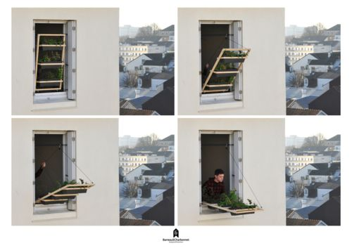 """'Volet végétal"""" is a project submitted for the Parisian design contest """"Jardin Jardin"""" as an industrial product for people who are living in apartments,  deprived of gardens and balcony."""