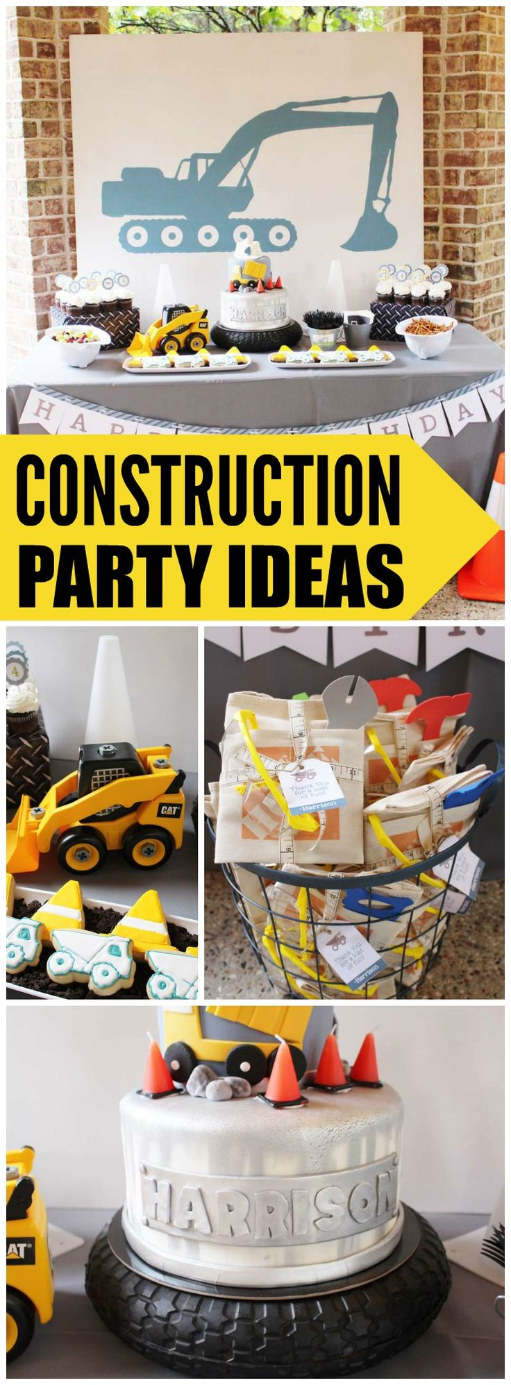 What a fun construction boy birthday party! See more party ideas at CatchMyParty.com!