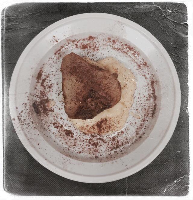 Pere cotte con Crema Pasticciera Veg