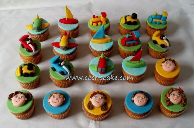 Torturi artistice: Cupcakes for boys