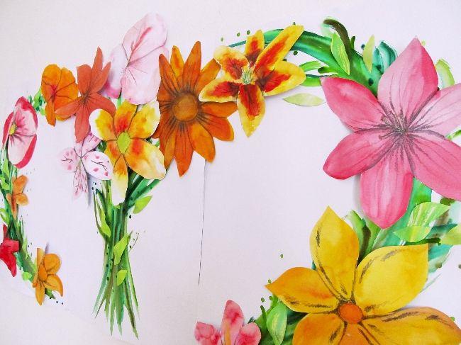 Květiny, instalace, 3/2016