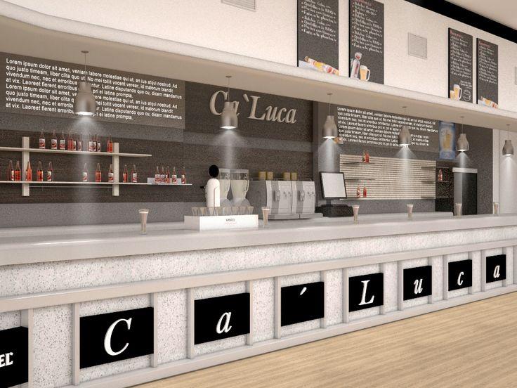 Ca'Luca Visualización en 3D del bar Ca'Luca. Creamos imágenes para que puedas visualizar como quedaría el restyling de tu bar. #bar #restyling #diseño #3d #restaurante #retail #interiorismo #deco