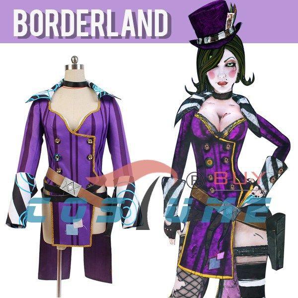 Borderlands 2 Mad Moxxi фиолетовый женщины равномерное наряд ну вечеринку одеть пальто аниме хэллоуин косплей костюмы для женщин на заказ