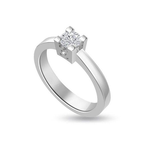 ANELLO DI FIDANZAMENTO SOLITARIO CON DIAMANTE 18CT ORO BIANCO | Solitario con diamante taglio brillante montato a griffe. L`anello ha sul castone nella parte laterale un design a forma di cuore. Il peso dei carati del diamante puo` variare da 0.20ct a 0.60ct ed il colore da F ad I e la purezza da VS1 ad SI1. L`anello e` accompagnato dal certificato del diamante. Perfetto per fidanzamento, matrimonio o anniversario e come regalo nel giorno di San Valentino.