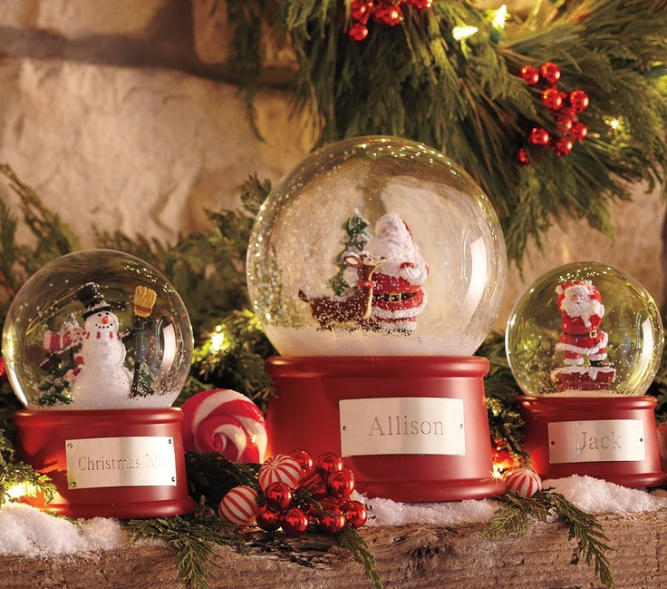 Snow Globes, Christmas Decorations