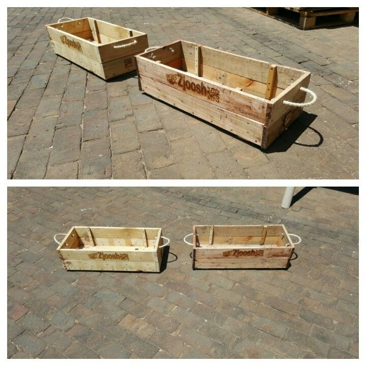 Stackable crates maid with pallet wood