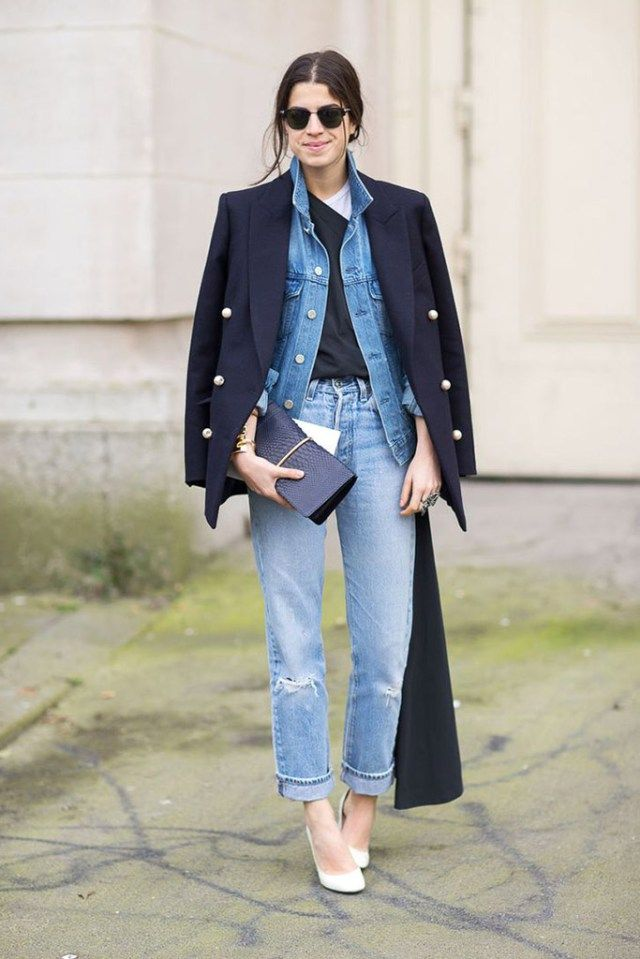 LAYERING | Confesiones de una Casual Girl | #streetstyle #fashion #layering #looks #denim #navy
