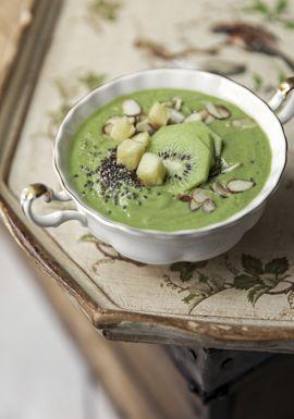 Bol vert aux fruits & gingembre