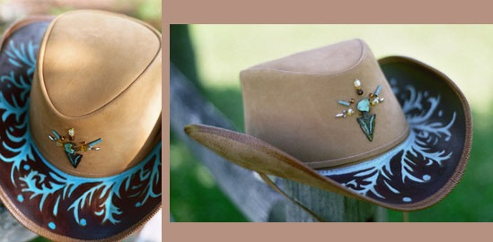 Awesome Painted Cowboy Hat Design