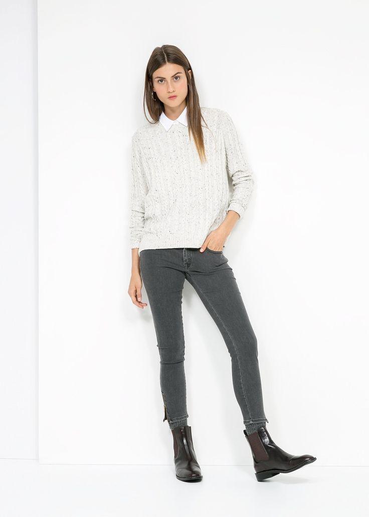 MANGO Pullover maglia intrecciata