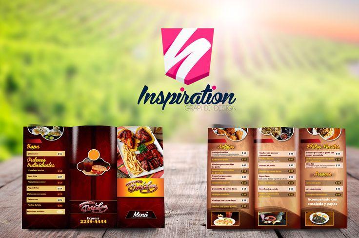 Diseño para menú de restaurante Doña Luz.