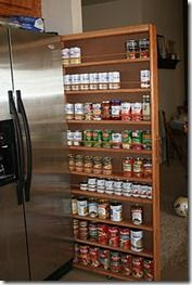 Sliding Pantry open view. Love this. I'm going to make this today.