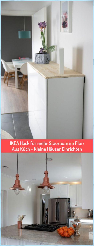 IKEA Hack für mehr Stauraum im Flur: Aus Küch - Kleine ...