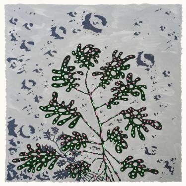 "Saatchi Art Artist Jonathan Wills; Painting, ""LunarPlant #5, 2015"" #art"