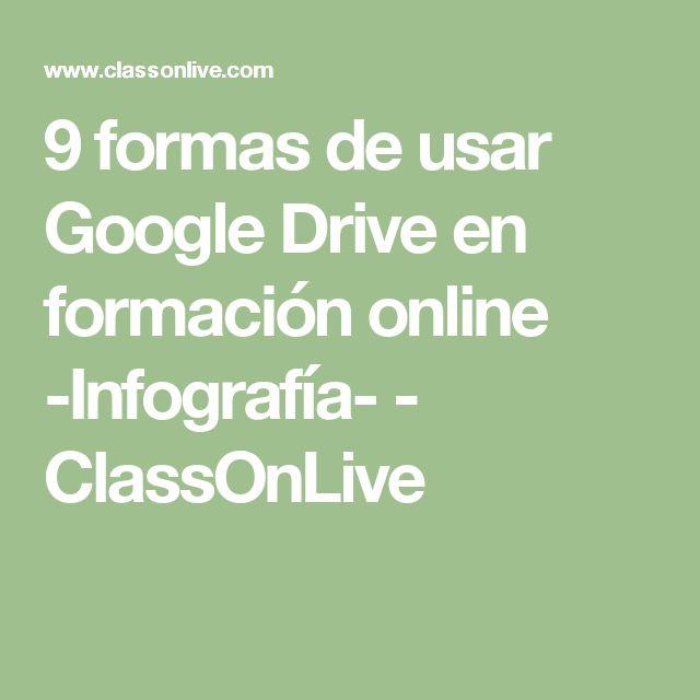 9 formas de usar Google Drive en formación online -Infografía- - ClassOnLive