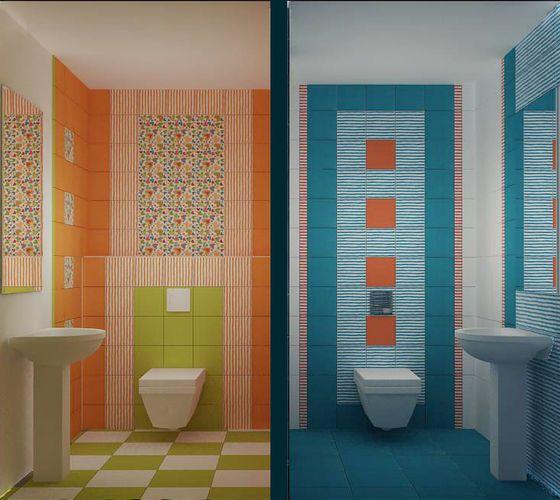 Разный способ укладки зрительно видоизменяет одинаковые помещения