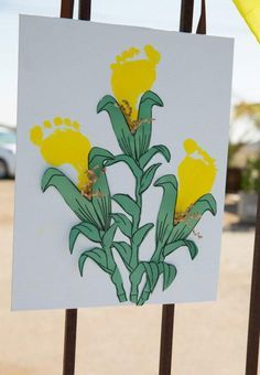 Corn footprint craft for kids to make