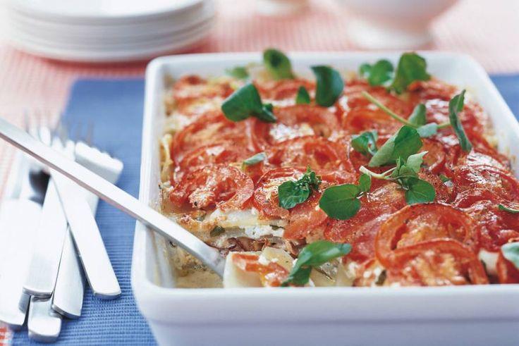 Ovenschotel met geitenkaas en koolrabi - Recept - Allerhande