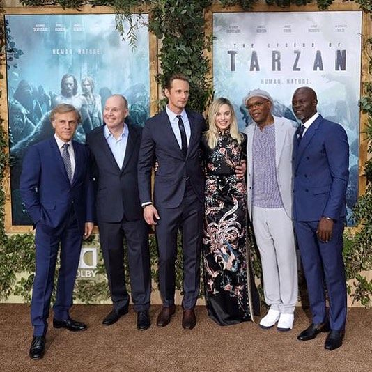 "The World Premiere of Warner Bros. Pictures and Village Roadshow Pictures ""The Legend of Tarzan"" was as action packed as the film. Here you can see Christopher Waltz David Yates Alexander Skarsgard Margot Robbie Samuel L. Jackson and Djimon Hounsou striking a pose in front of the Dolby Theater in Hollywood. Who is your favorite character from the film? #LegendOfTarzan #movie #premiere #Hollywood #ChristopherWaltz #DavidYates #AlexanderSkarsgard #MargotRobbie #SamuelLJackson #DjimonHounsou…"