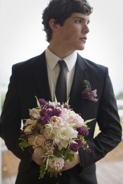Pics of grooms holding bouquets.  Gay Marriage Ideas