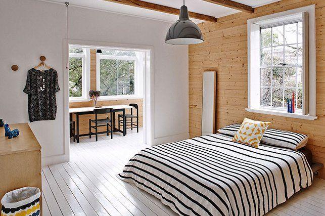 北欧ベッドルーム夏