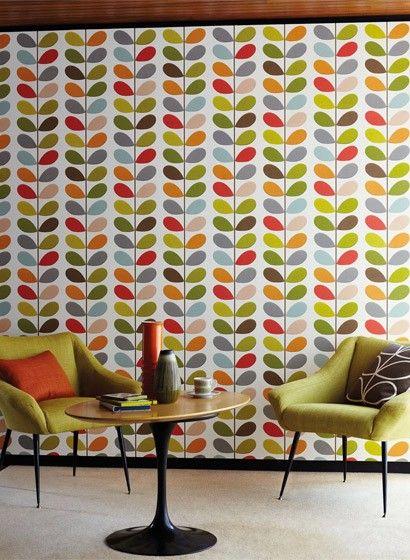 tapete bunte bl tter orla kiely design von harlequin. Black Bedroom Furniture Sets. Home Design Ideas