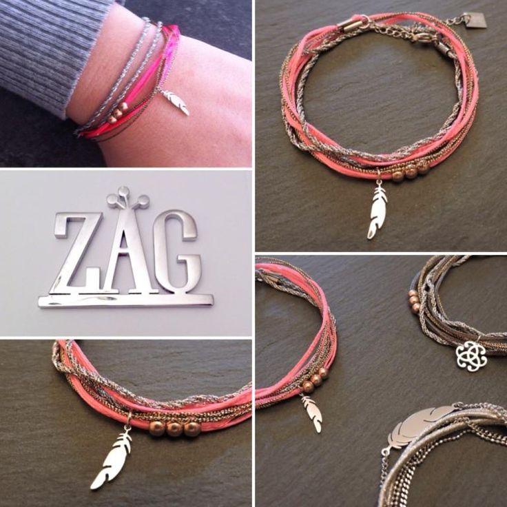 ZAG Bijoux Multicoloured bead double bracelet xejCqv3zEJ