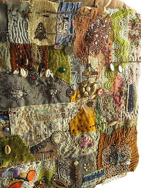 Texture. This has tiny encased photos of some of my family. By Debra Dorgan