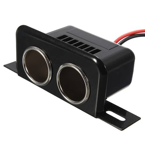 12V Car Motorbike Tractor Boat Cigarette Lighter Double Socket Plug  Worldwide delivery. Original best quality product for 70% of it's real price. Buying this product is extra profitable, because we have good production source. 1 day products dispatch from warehouse. Fast & reliable...