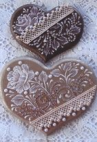 Champagne & Lace Hearts paquetes patrón