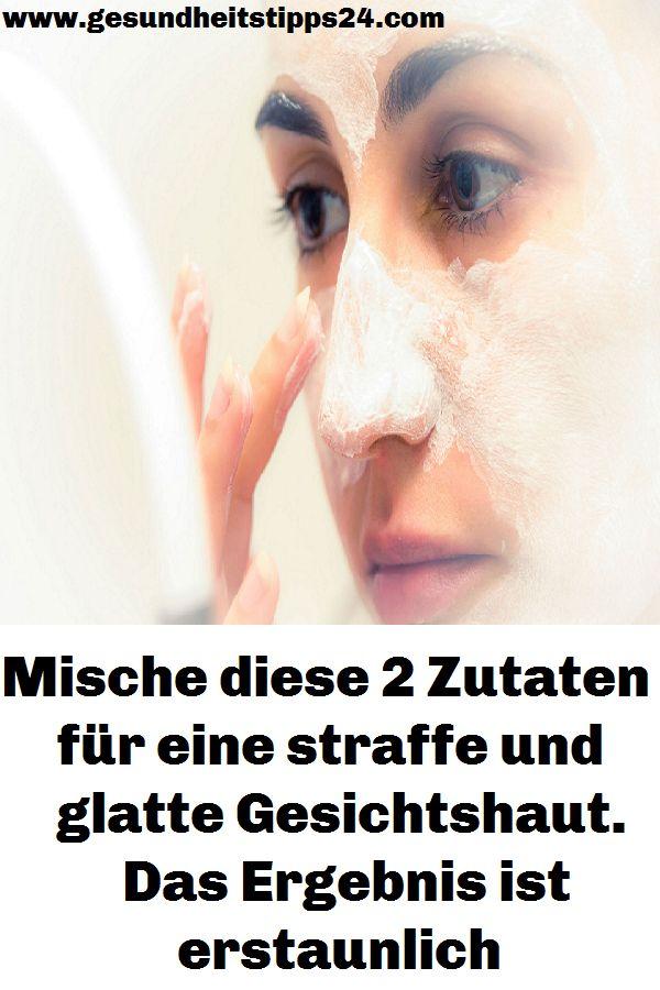 Mische diese 2 Zutaten für eine straffe und glatte Gesichtshaut. Das Ergebnis i…