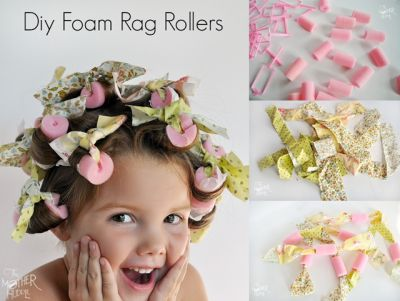 The Homestead Survival | Homemade Foam Rag Rollers for No Heat Hair Curling | http://thehomesteadsurvival.com