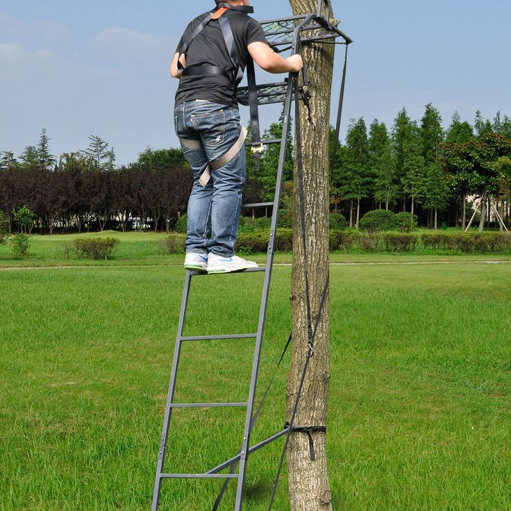 17 best ideas about tree stand harness on pinterest for Deer hunting platforms