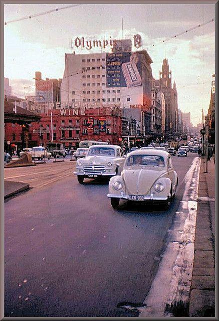 Swanston Street, Melbourne, Australia, 1959.