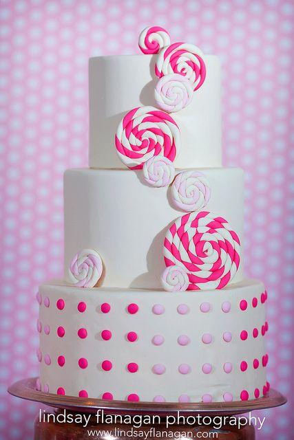 Lollipop Swirl Cake by Wild Orchid Baking Co., via Flickr