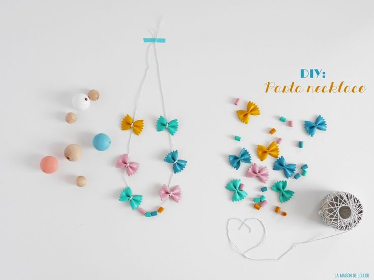 Mother's day DIY pasta necklace by La maison de Loulou